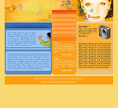 Website Shopping Cart Templates - Electronics - t-0125