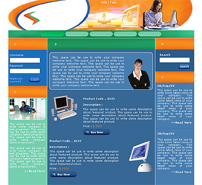 Website Shopping Cart Templates - Computers - t-0149