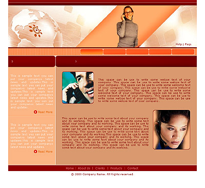 Website Shopping Cart Templates - Communications - t-0153
