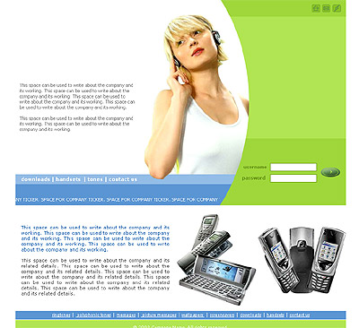 Website Shopping Cart Templates - Communications - t-0155
