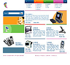 Website Shopping Cart Templates - Electronics - t-0161