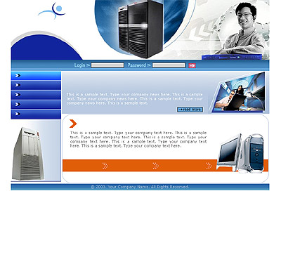 Website Shopping Cart Templates - Computers - t-0163