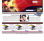 Website Shopping Cart Template - Electronics - t-0001